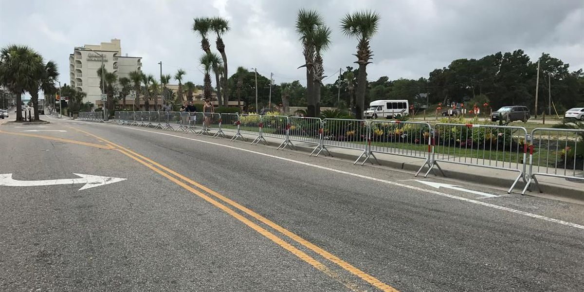 Trial-basis barricades installed on Ocean Boulevard in response to violence