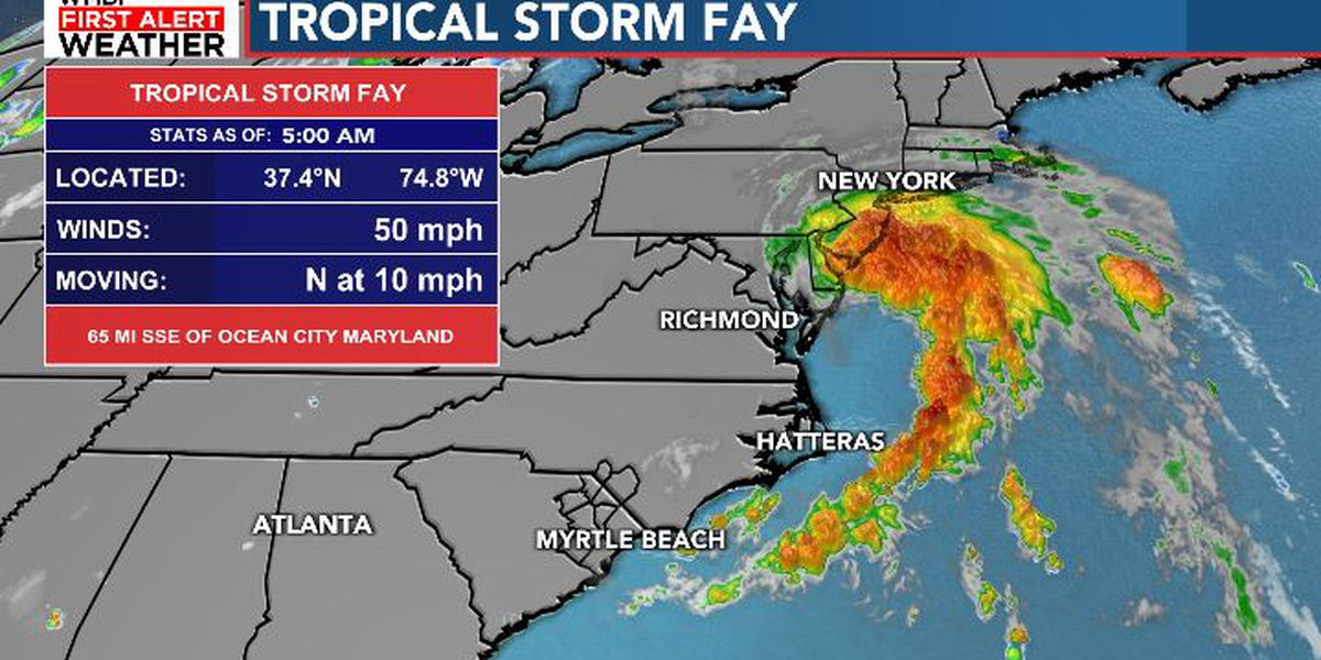 FIRST ALERT: Fay slightly stronger, will pass near New York City tonight