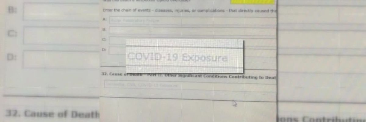 CDC: 'COVID-19 exposure' should be left off of death certificates