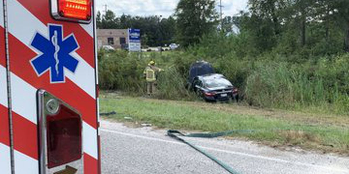 One injured in two-car crash in Conway