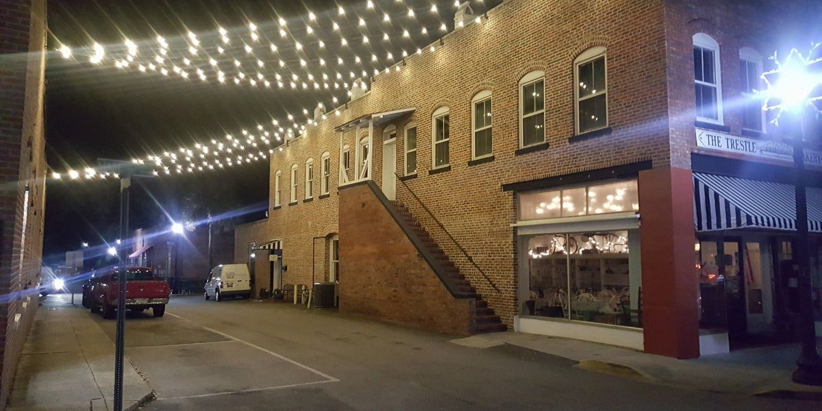 String lights added to Conway alley in city's continued efforts to make it more appealing