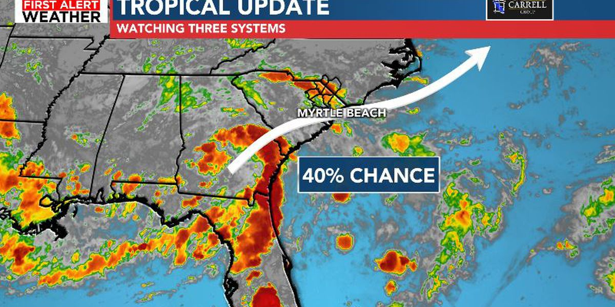 High chance of a tropical system forming off East Coast soon