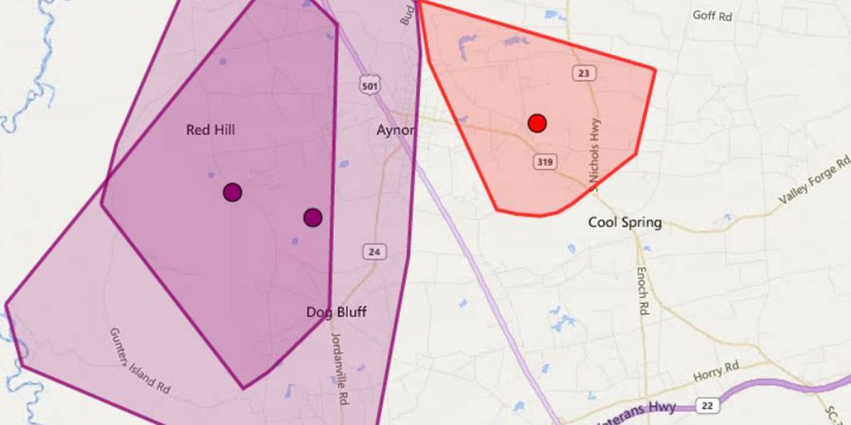 Power restored after car knocks our power to over 1,500 customers in Aynor area