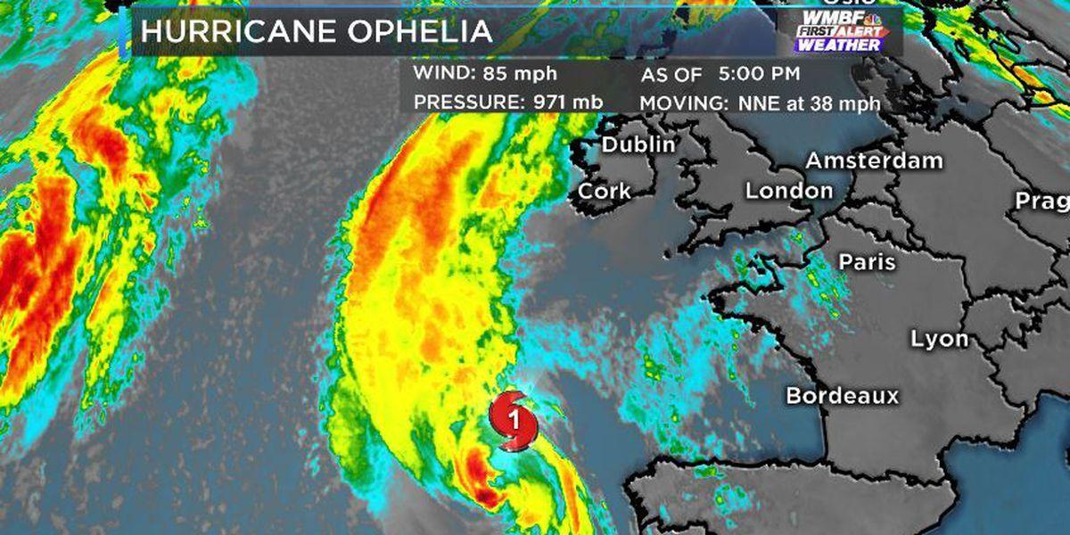 TROPICS: Hurricane Ophelia is Weakening, Takes Aim at Ireland
