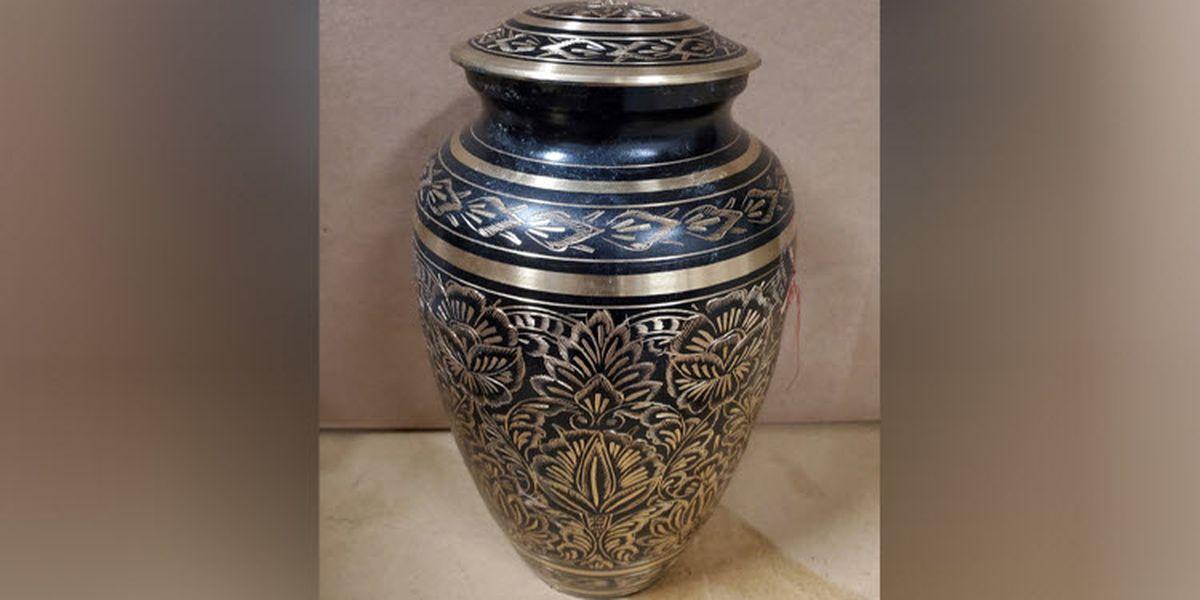Owner of stolen urn found