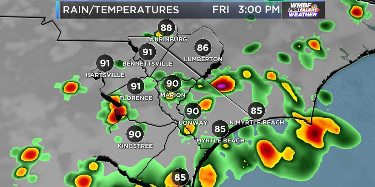 FIRST ALERT: Showers and storms at times through the weekend