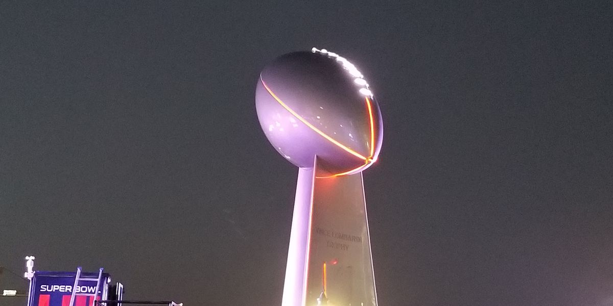 North Myrtle Beach native behind giant Lombardi Trophy replica at Super Bowl LIII