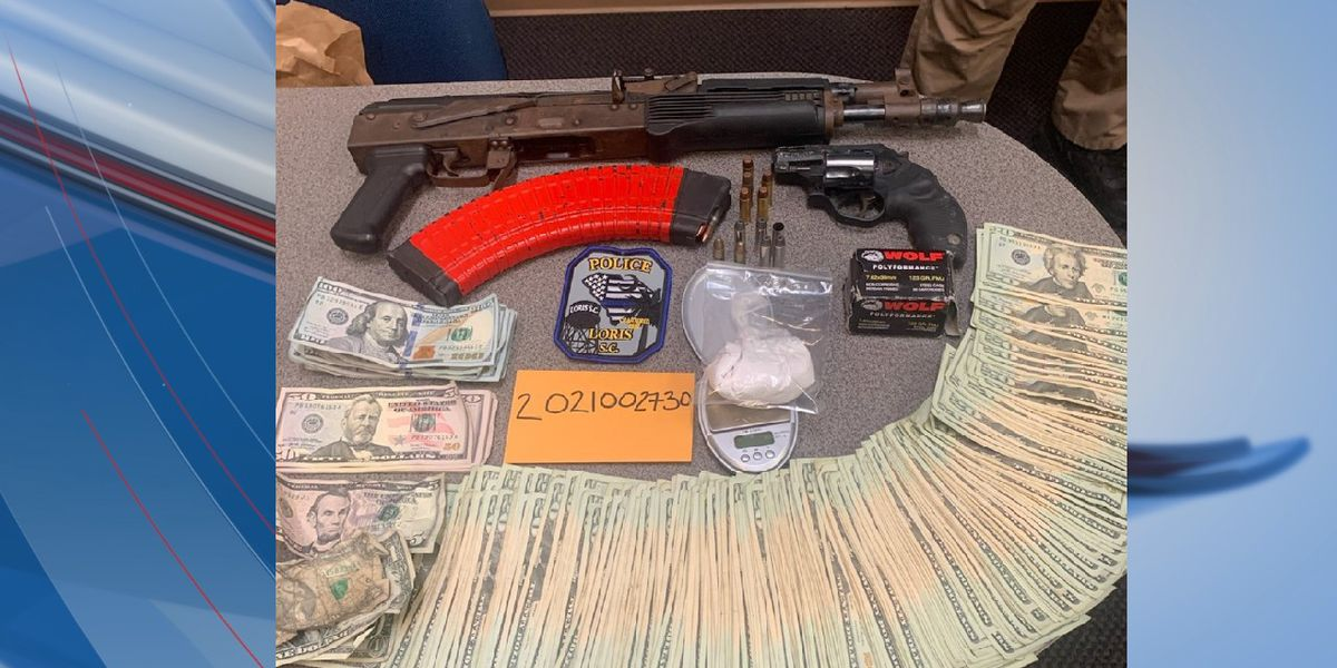 Vehicle chase in Loris leads to seizure of heroin, cash, guns; one arrested