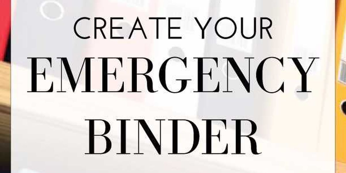 Horry County Emergency Management to host 'Create Your Emergency Binder Event'