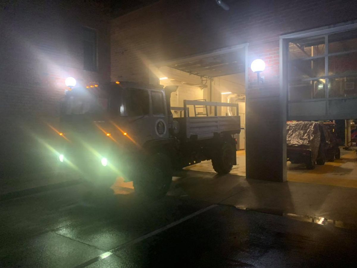 North Myrtle Beach Fire Rescue sends out highwater vehicles to rescue drivers on flooded roads