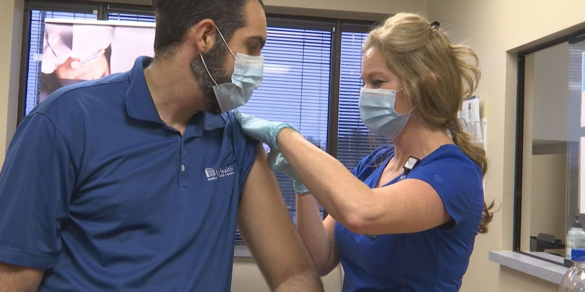 'I feel joy today': MUSC Health Florence administers COVID-19 vaccine to healthcare workers