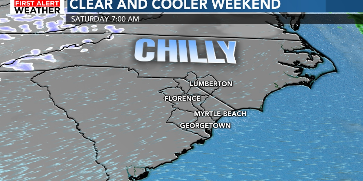 FIRST ALERT: Chilly and blustery weekend on the way