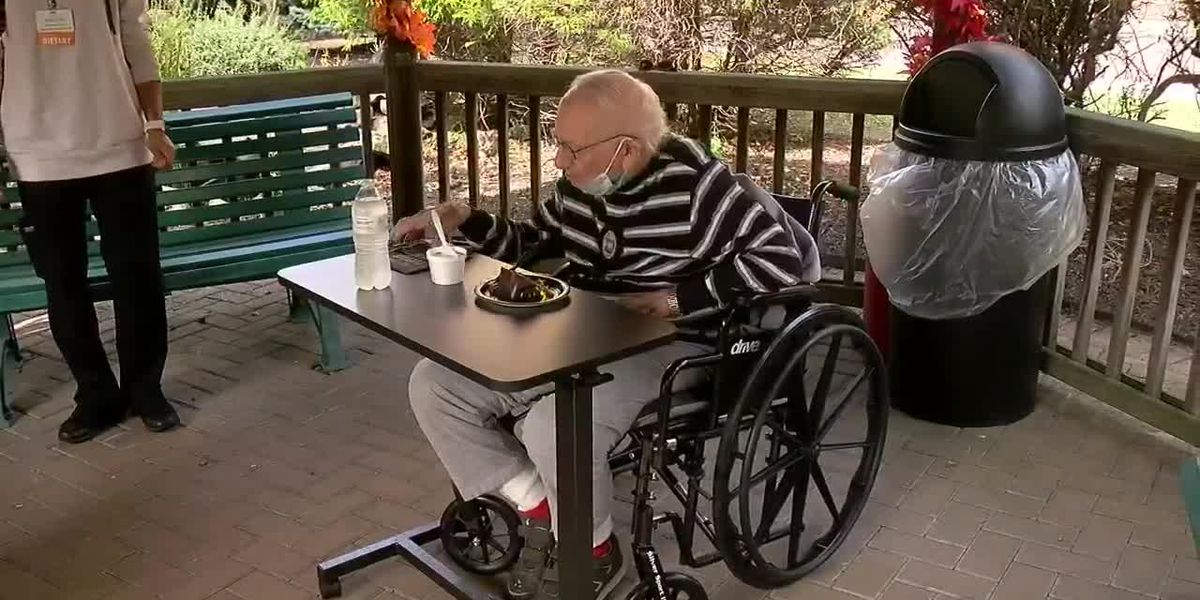 WWII vet celebrates 100th birthday with his first b-day party ever