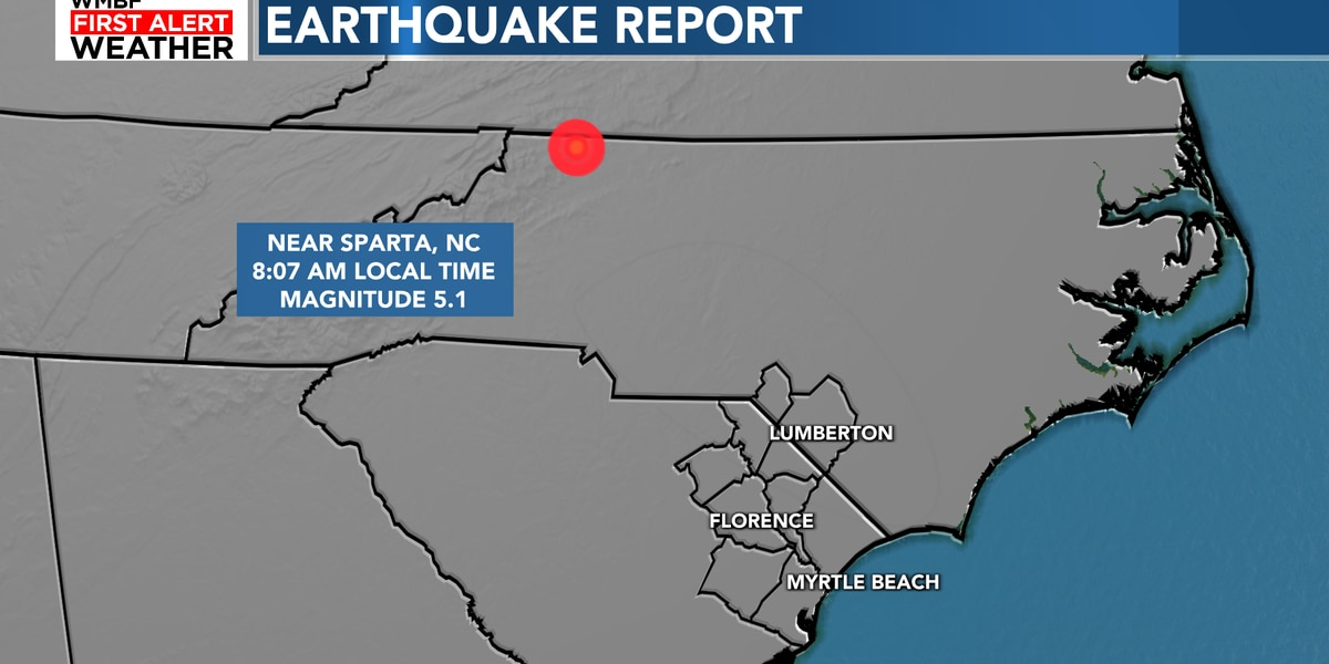 5.1 magnitude natural disaster  hits NC, rattles parts of Carolinas, officials say