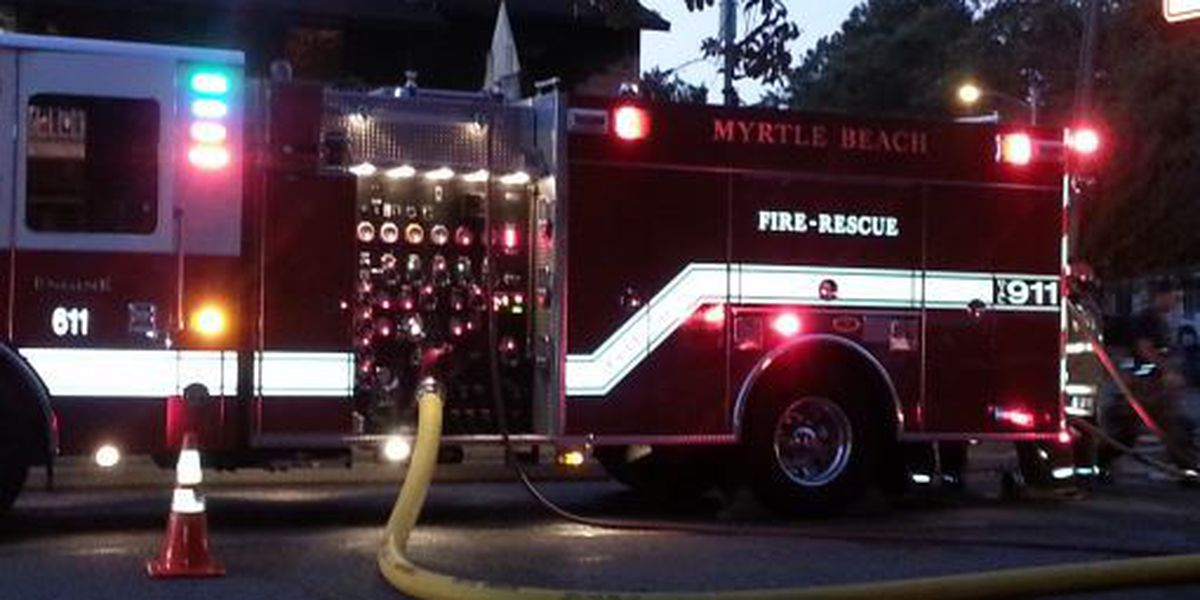 Fire evacuates residents at Myrtle Beach apartment building