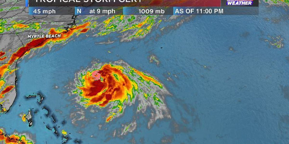 "TROPICS: ""Gert"" becomes the 7th Tropical Storm of the season"