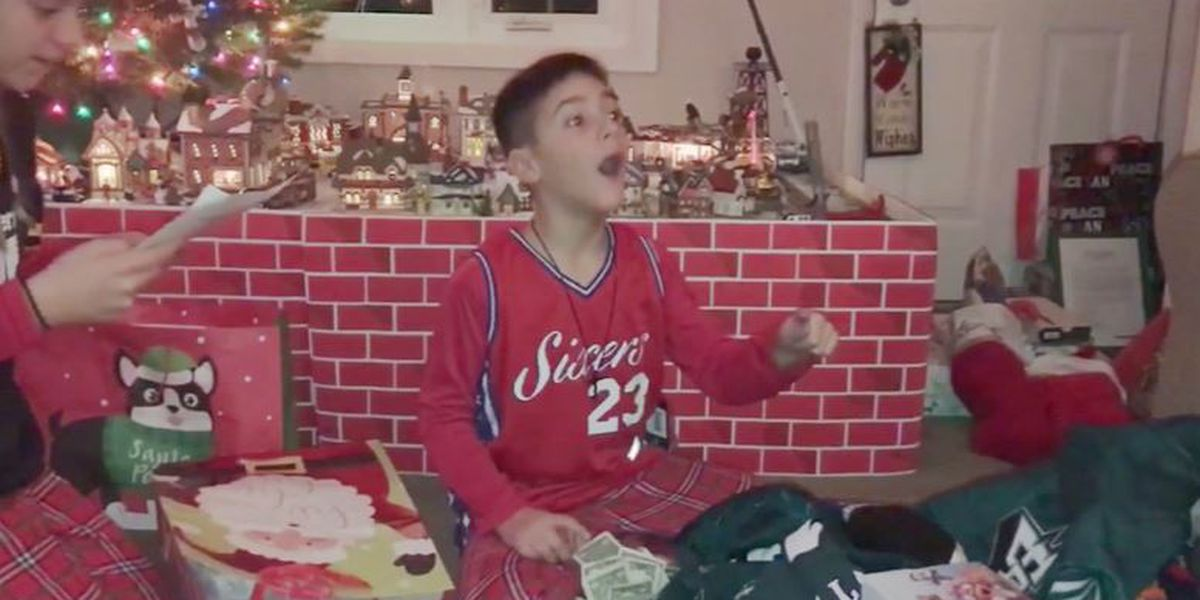 Santa honors boy's Christmas wish by bringing $1,200 for cancer research