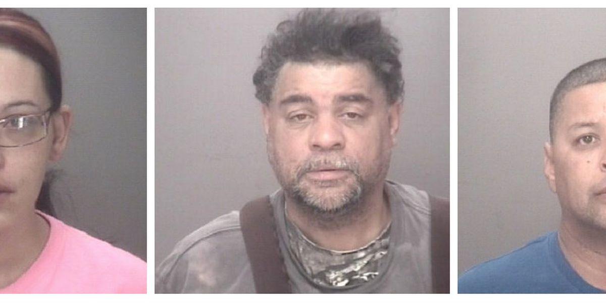Three arrested after deputies seize drugs, firearm