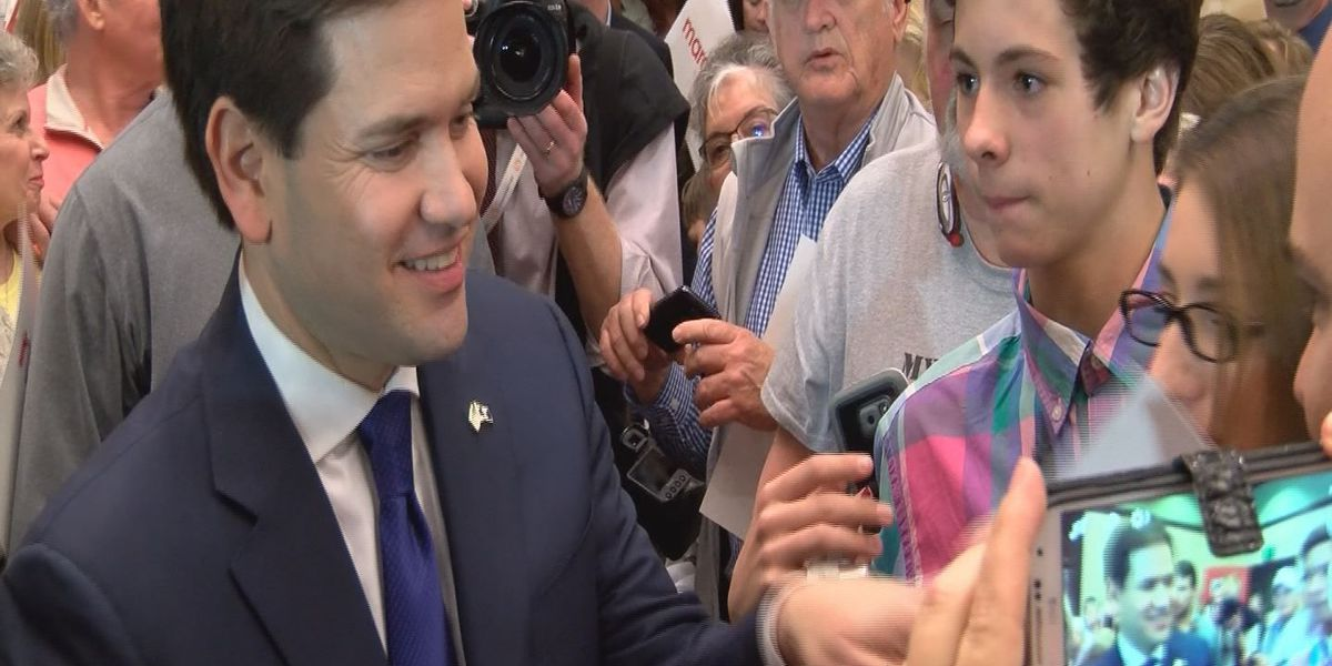 Sen. Rubio rally in Pawleys Island rescheduled to 10 p.m. Friday