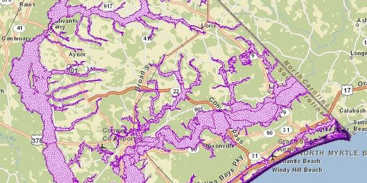 Horry County preliminary flood insurance rate maps revised