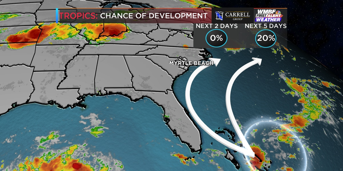 First Alert: Chantal now a depression, keeping an eye on a disturbance in the Bahamas