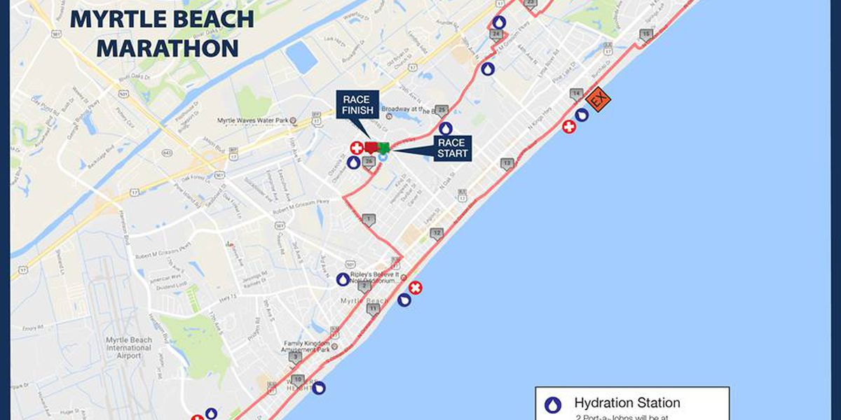 Several roads closed Saturday morning for Myrtle Beach Marathon