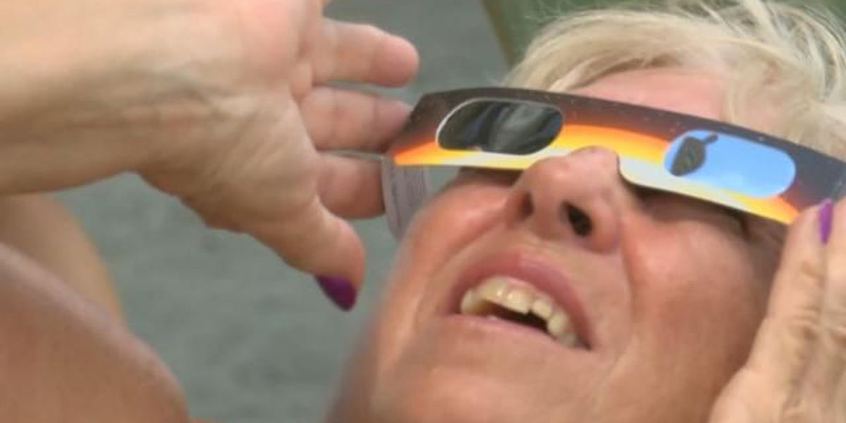 Visitors at Myrtle Beach State Park share eclipse experience