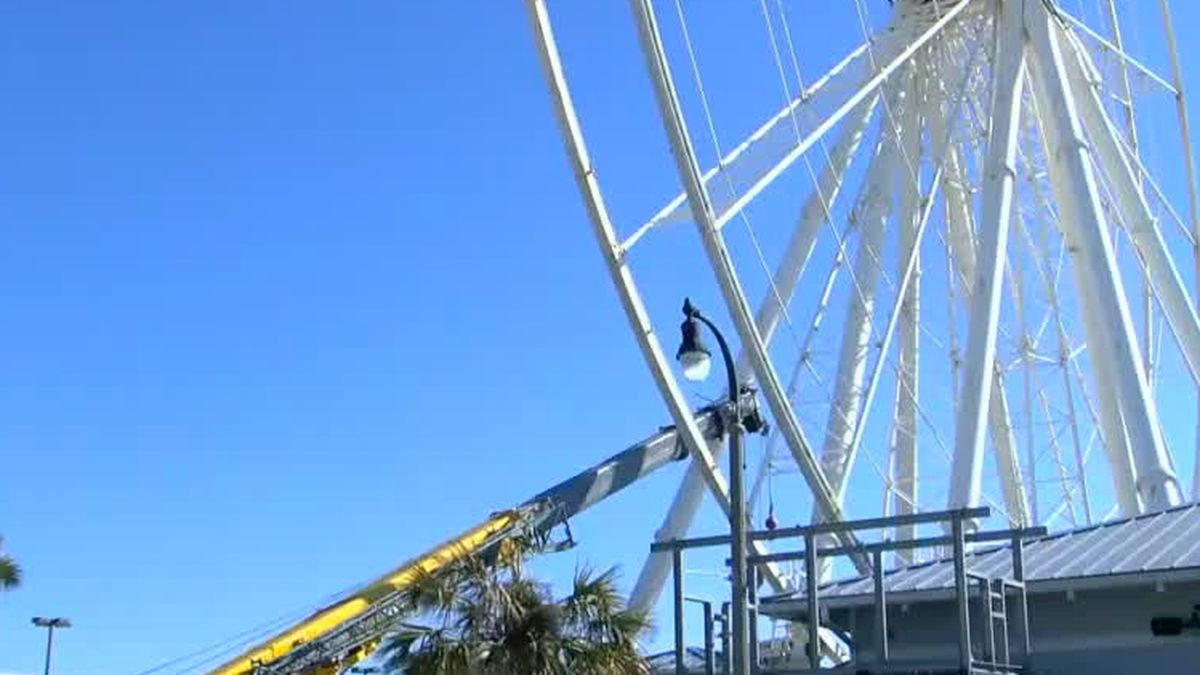Makeover begins for Myrtle Beach SkyWheel ahead of 10th anniversary