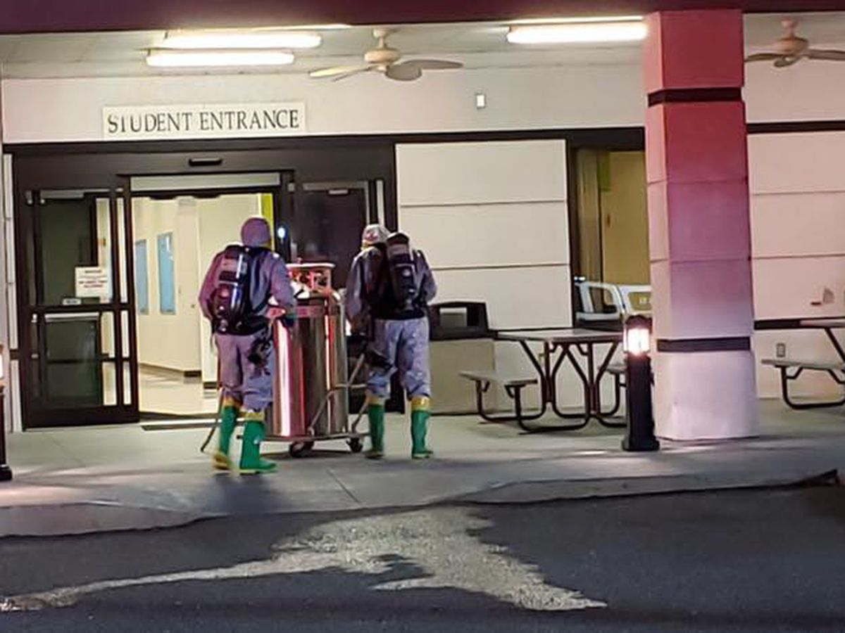 Hazmat, fire crews respond to CCU for leaking medical tank