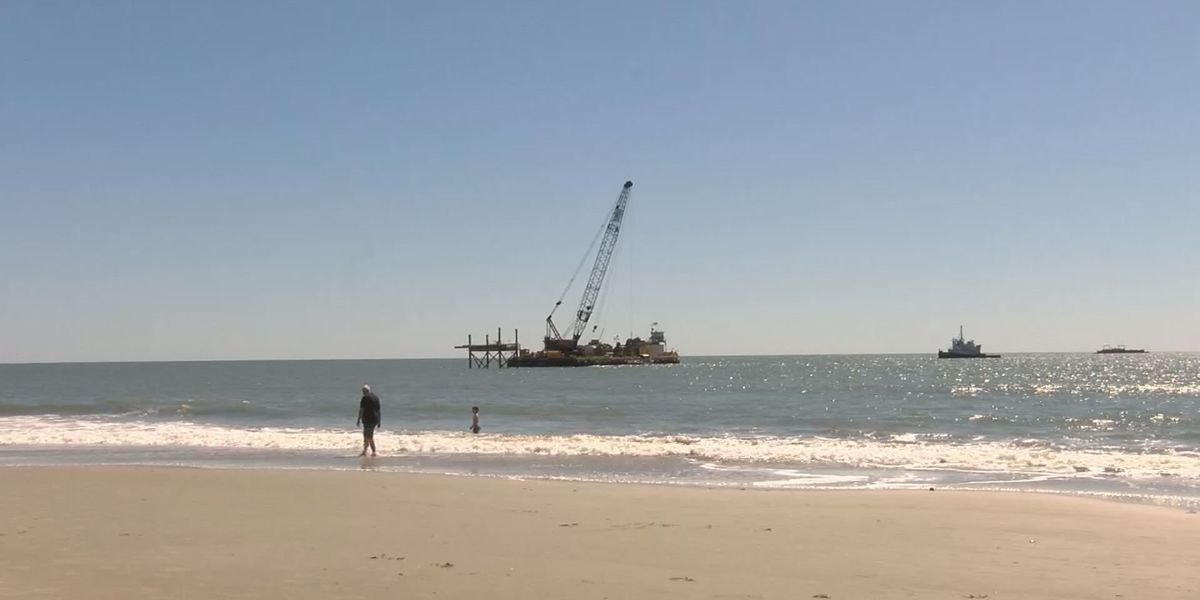 Ocean outfall project work continues in Myrtle Beach