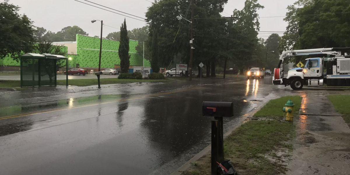 Sewer line breaks near recreation center in Myrtle Beach
