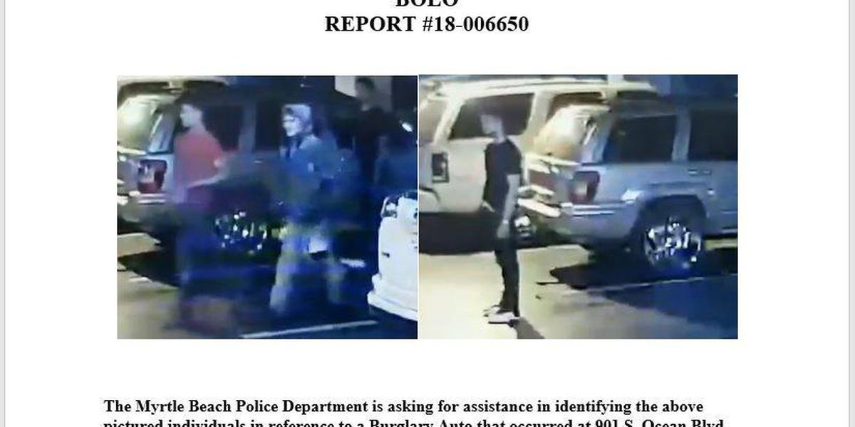 Police need your help in identifying burglary suspects