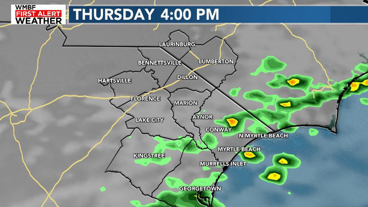 FIRST ALERT: A few showers Thursday