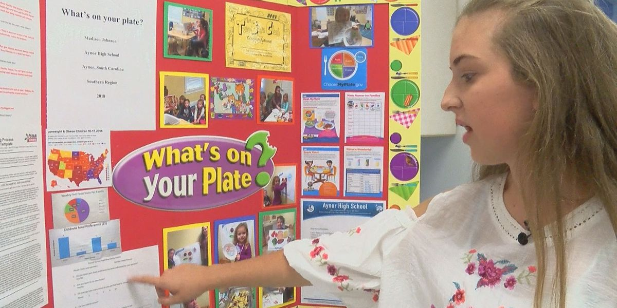 Student Spotlight: 'What's on your plate?' Aynor sophomore's winning project