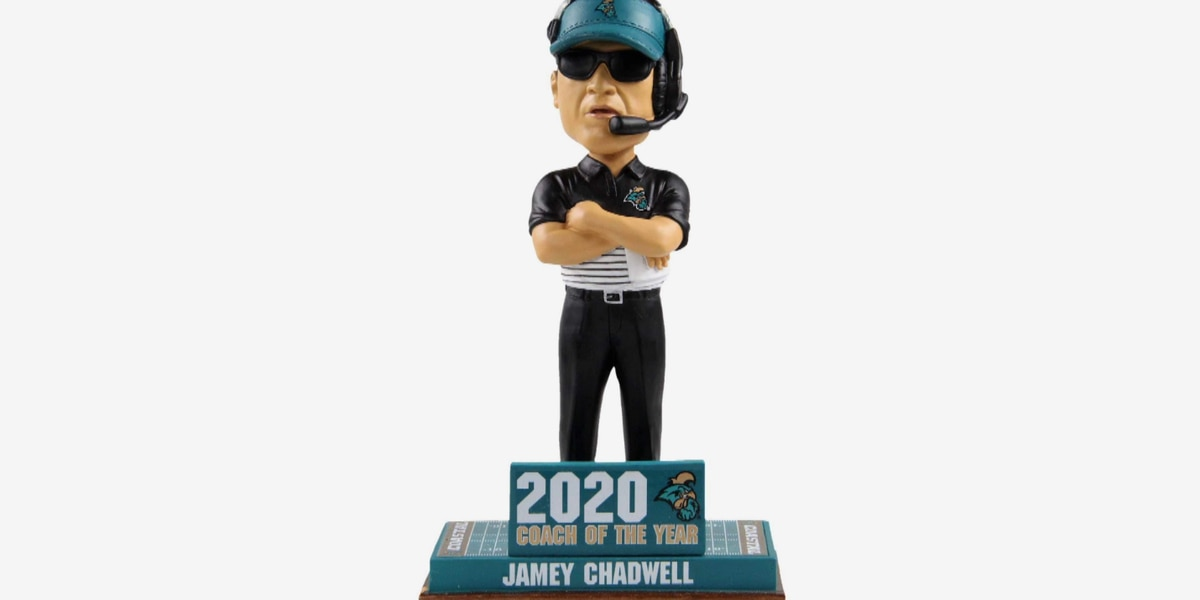 Jamey Chadwell 'Coach of the Year' bobblehead now on sale