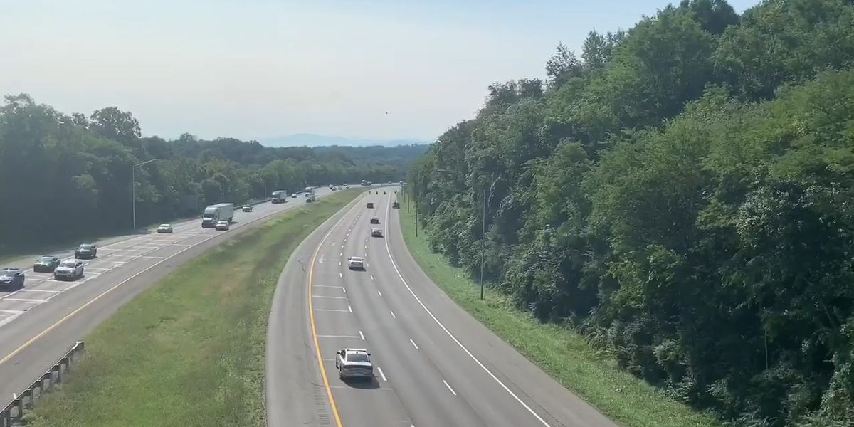Lanes clear after plane takes off from I-640