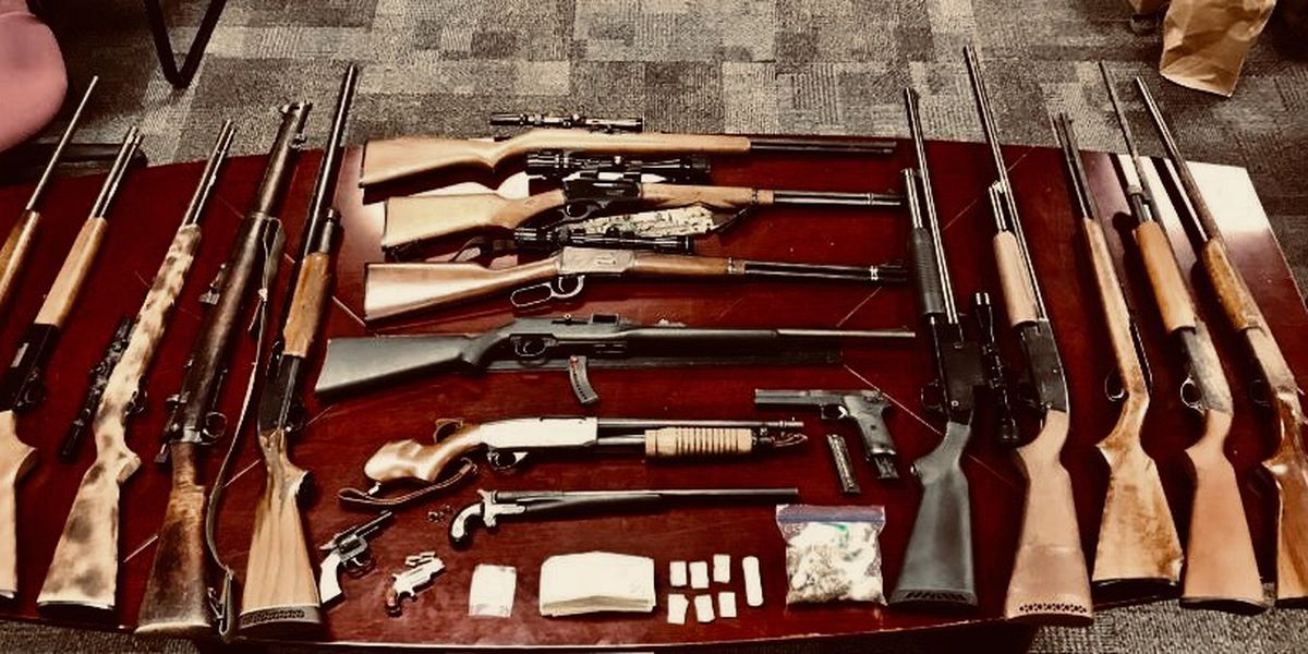 Nineteen guns, heroin seized during Little River bust; two arrested