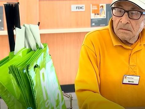 World War II vet, 97, still works bagging groceries - and he's a hit with customers