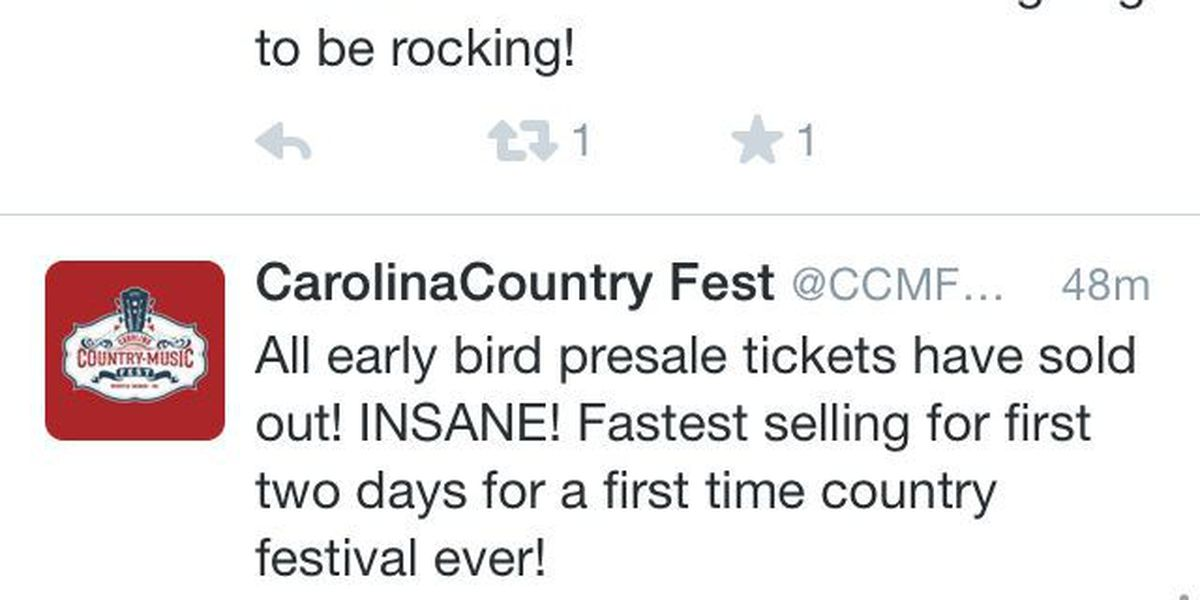 First batch of presale tickets for Myrtle Beach country music fest sold out