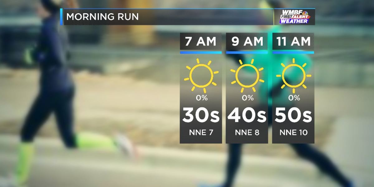 WMBF FIRST ALERT FORECAST: Cool start followed by a typical mid-February day