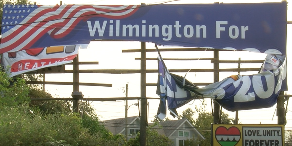 Prominently-displayed 'Wilmington for Trump 2020' billboard vandalized overnight