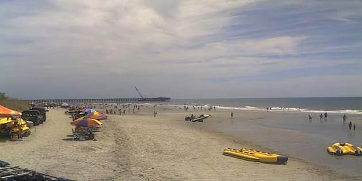 Beachgoers advised to stay out of water due to jellyfish in Myrtle Beach