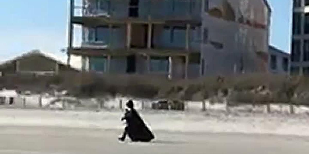 VIDEO: Beware of the dark side! Darth Vader seen walking on Grand Strand beach