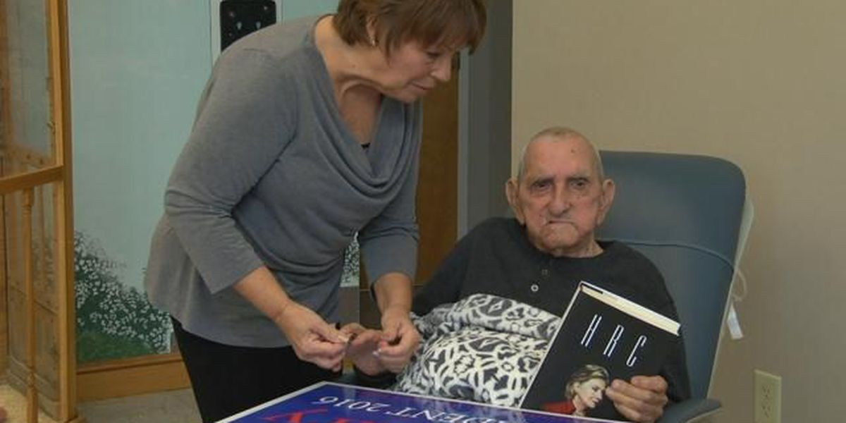 100-year-old Conway man campaigns for Clinton