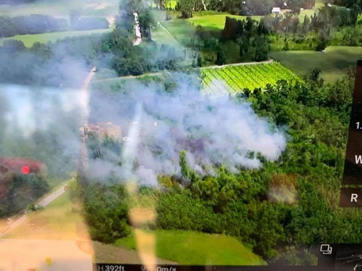 Horry County firefighters battle 10-acre brush fire near Nichols