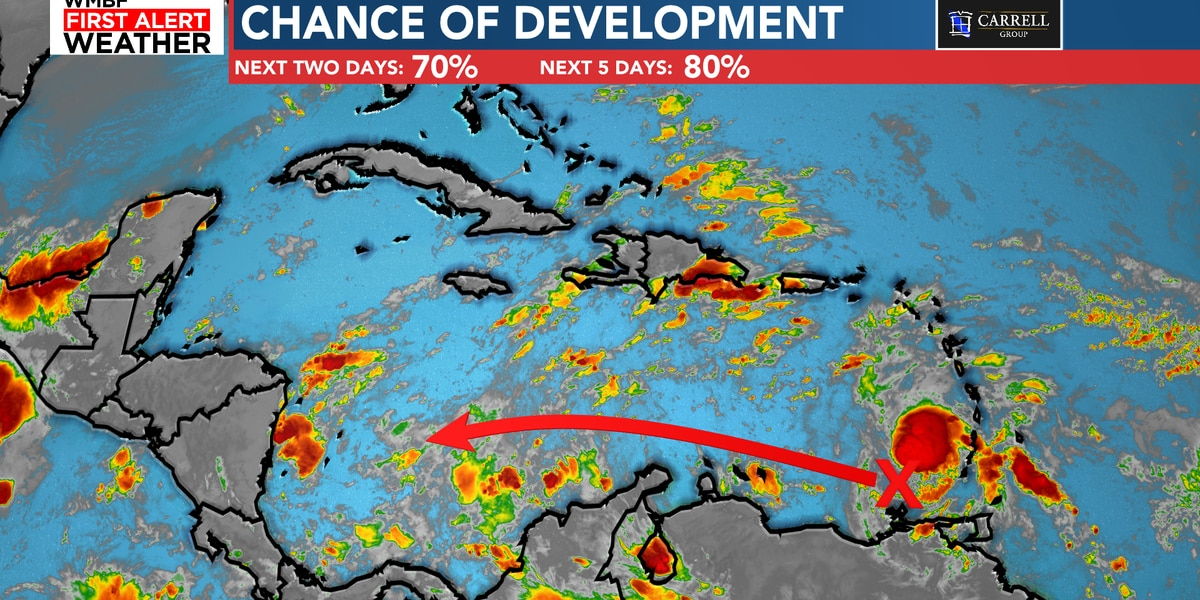 FIRST ALERT: High chance of development in Caribbean