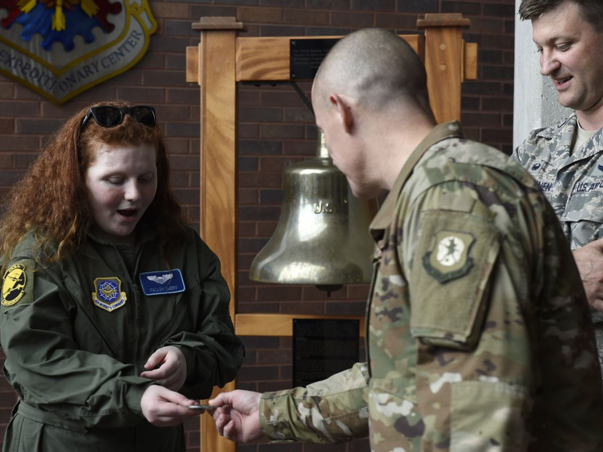 Local cancer warrior Fierce Fallon honored by 437th Airlift Wing