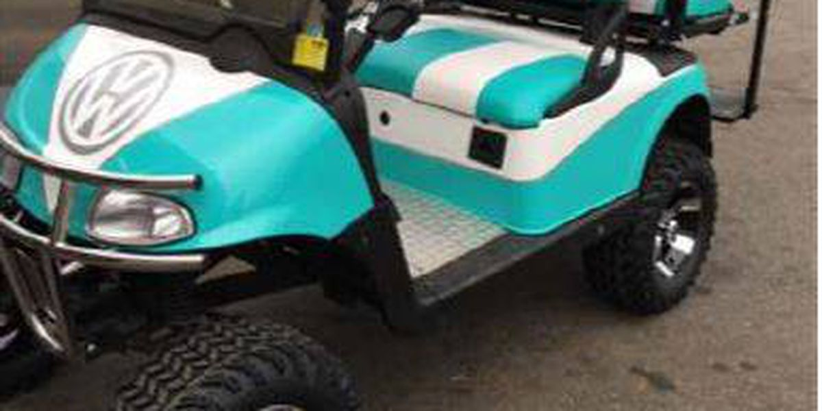 Golf carts stolen from Apache Campground on teal pull cart, room essentials metal cart, teal golf cover,
