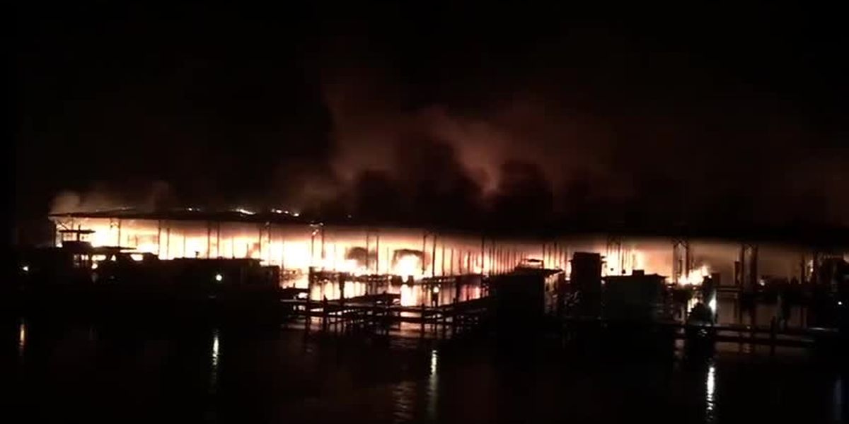Viewer video of the Scottbsoro boat dock fire- Courtesy: Mandy Durham