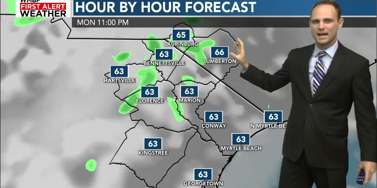 Drying out and warming up into Monday